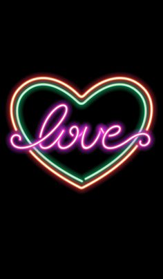 Heart Iphone Wallpaper, Neon Wallpaper, Cellphone Wallpaper, Wallpaper Backgrounds, Wallpapers, Boxing Day, Love Heart, Peace And Love, Light Em Up