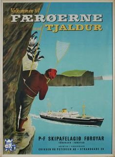 Faroe Islands vintage poster