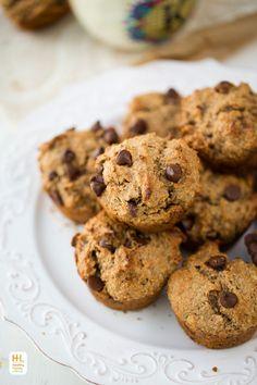 Vegan Banana-Walnut Chocolate Chip Muffins with Fiber Boost!