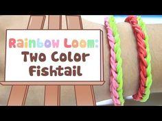 ▶ Rainbow Loom: Two Color Fishtail Bracelet Tutorial