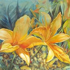 """""""Underwater"""" - by emily Christoff-Flowers.... ~Watercolor"""