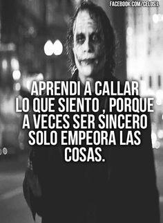 Joker Frases, Joker Quotes, Book Quotes, Life Quotes, Heath Ledger Joker, Quotes En Espanol, Tumblr Love, Smart Quotes, Inspirational Phrases