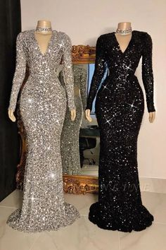 Looking for Evening Dresses,Realdressphotos,Prom Dresses in Sequined, Column style, and Gorgeous Sequined work? Babyonlinewholesale has all covered on this elegant Glittering Crystal Sequins Long Sleeves V-neck Mermaid Prom Dresses. Dresses Uk, Elegant Dresses, Dress Outfits, Rave Outfits, Dinner Gowns, Evening Gowns, Lace Gown Styles, Latest African Fashion Dresses, Mermaid Prom Dresses