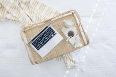 macbook, laptop, computer, technology, tray, tea, business, work, spoon, sheets