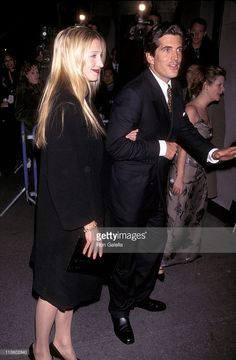 1339-John F. Kennedy Jr. and Carolyn Bessette during 2nd Anniversary Party of 'George' Magazine at Asia De Cuba in New York City, New York, United States.