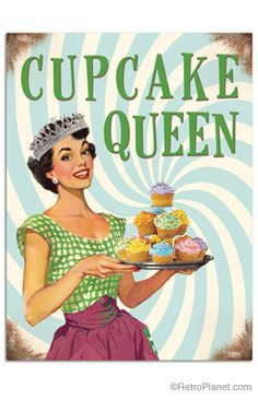 Cupcake Queen Tin Sign