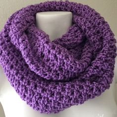🎉HOST PICK🎉Soft and Warm Knitted Scarf New! Hand knitted infinity scarf in medium purple. My hand knitted scarf will keep you warm and cozy. Very soft. Will wrap around 2 times depending on how loose or tight you like your scarf around your neck. Wide enough to extend to wrap around your head. Use my bundle discount and take advantage of huge savings 😊 when you bundle 2 or more items. Accessories Scarves & Wraps