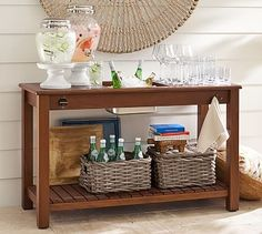 Chatham Ultimate Bar Console Table - Dark Honey #potterybarn