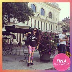Para curtir um passeio de forma confortável e estilosa, a nossa cliente de Cianorte, Sarah Coelho, escolheu uma legging digital da Serafina. Por sua conposição criativa, a consumidora foi eleita a Fina da semana.  Arrasou!