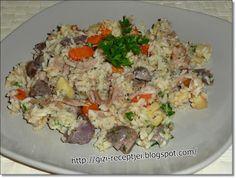 Gizi-receptjei. Várok mindenkit.: Márton-napi ludaskása. Fried Rice, Nap, Potato Salad, Potatoes, Ethnic Recipes, Food, Potato, Essen, Meals