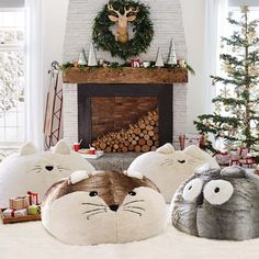 Seriously, how cute are these faux fur critter beanbags?!