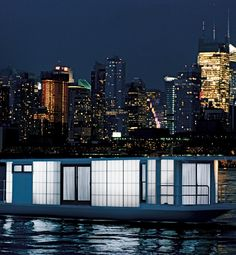 houseboat in the city