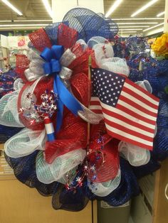 4th of July Deco Mesh Wreatg