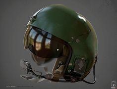 Helmet - Helicopter Pilot, Jacob Norris on ArtStation at http://www.artstation.com/artwork/helmet-helicopter-pilot