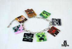 Minecraft+characters+Perler+Hama+Beads+Bracelet+by+ZestyDen,+$15.00