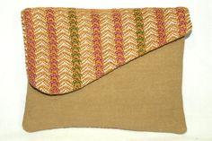 Handwoven Mini Clutch Purse  Handbag  Woodland Stripe by weavelea, $24.00