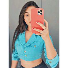 Cool Girl Pictures, Girl Photos, Ayeza Khan Wedding, Pink And White Background, Stylish Girl Pic, Girl Photo Poses, Girls Dpz, Indian Girls, Denim Skirt
