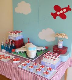 cake cookies, birthday parties, boy party, airplan parti, parti idea, airplane party, planes party, birthday cakes, baby showers
