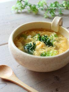 5分でかんたん、ブロッコリーと卵のスープ