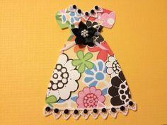 Party Dress Scrapbooking Fabric and Paper by StuffDepot on Etsy, $1.95