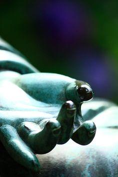 Hand of the Buddha statue at Tokei-ji temple in Kamakura, Japan