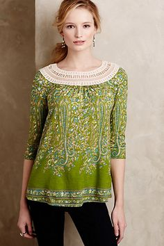 Earthly Delights Peasant Top #anthropologie: Did not buy. Small was really tight in the sleeves, medium felt tight across the back and was, overall, not that cute.