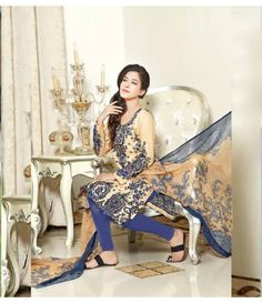 Rangrasiya Embroidered Lawn Suits Vol.3 D-1048B