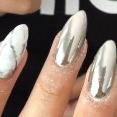 Instagram Post By Dailycharme Jun 20 2016 At 11 28pm Utc Chrome Mirror Nailsmirror Nails Powderchrome