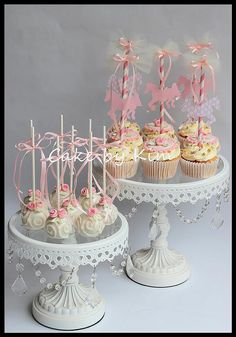 carousel cupcakes and cake pops   Flickr - Photo Sharing!