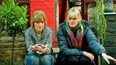 Siobhan Finneran and Sarah Lancashire in BBC drama Happy Valley ~ season 1