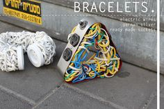 Yael Levin  - bracelets done with electrical wires, silver, ready made sockets ...