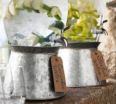 Galvanized Metal Drink Dispenser Stand At Pottery Barn - Tabletop - Drink Dispensers & Pitchers