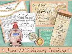 June 2015 Visiting Teaching Printable | lots of fun ideas for June!  Adorable!! #junevisitingteaching