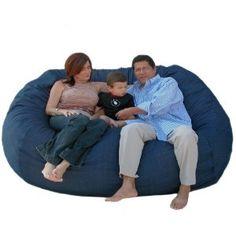 7-feet Xx-large Denim Cozy Sac Foof Bean Bag Chair Love Seat