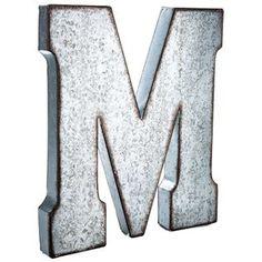 Large Galvanized Metal Letter - M CraftyCrocodile http://www.amazon.com/dp/B00WABPPW0/ref=cm_sw_r_pi_dp_TKWVvb1Y0REDH