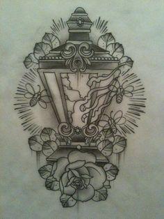 lantern and firefly tattoo flash Lamp Tattoo, Lantern Tattoo, Dibujos Tattoo, Desenho Tattoo, Tattoo Sketches, Tattoo Drawings, Hamsa, Firefly Tattoo, Tattoo Flash Art