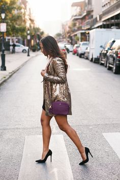"""New Orleans thrives on its character, charm, epic carnivals, and jazz history. It's a festive city year-round, so we're constantly dressing up for holidays and special occasions!"" -- Jennifer of Haute Off The Rack, pictured in the Name in Lights Sequin Blazer (http://www.nastygal.com/nasty-gals-about-town-party-edition/nasty-gal-name-in-lights-sequin-blazer?utm_source=pinterest&utm_medium=smm&utm_term=ngdib_collab&utm_content=ng_about_town&utm_campaign=pinterest_nastygal) #NewOrleans…"