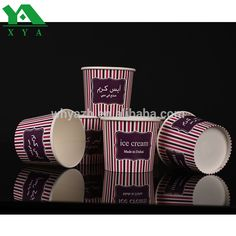 3oz cone ice cream paper cups with lid