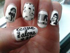 Michael jackson nail stamping art #neato