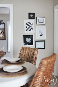 DIY graphic print gallery wall and a FREE printable  |  The Blissful Bee