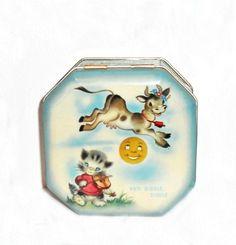 Vintage 1940s Tin Box Nursery Rhyme Hey by houseofheirlooms, $70.00