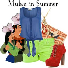 """Mulan in Summer"" by agust20 on Polyvore"
