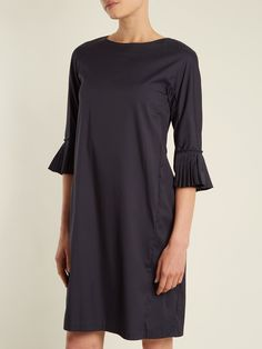 b9d02c18756f Click here to buy S Max Mara Pleated-cuff stretch-cotton dress at  MATCHESFASHION