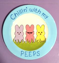 Peeps Plate   Paint Your Own Pottery   Paint Your Pot   Cary, North Carolina