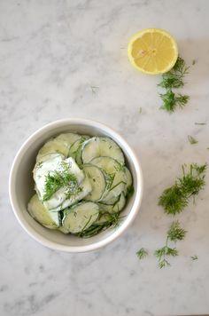 Komkommersalade met dille!