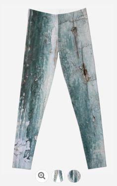 Painted Door Legging - JUSTART on Redbubble #justart #rb #redbubble #legging #fashion #clothing #abstract #green #aqua #white #brown