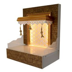 Designer Wooden Mandir with LED Lighting. , Designer Wooden Mandir with LED Lighting. House Design, Wooden Doors, Room Design, Temple Design For Home, Tv Wall Design, Wooden Kitchen Storage, Room Door Design, Wooden Kitchen, Door Glass Design