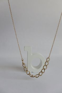 Chunky gold chain necklace by Bleuberie on Etsy, $12.00