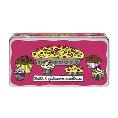 Boîte à Gâteaux Moelleux - Rose - Derrière la Porte - DLP - Accessoire cuisine et rangement/Boîte métal et céramique - espritlogis-fr