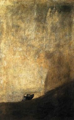 """""""The Dog"""" (1820-1822), Francisco Goya. (Photo courtesy of The Art Wolf)"""